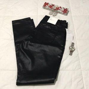 Black sateen pants